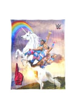 """WWE New Day Unicorn Ride 46"""" x 60"""" Soft Throw"""