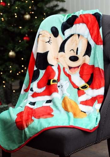 "Classic Mickey Jingle Bell Fun 46"" x 60"" Super Soft Throw"