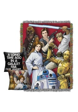 Star Wars Woven Throw & Pillow Gift Set