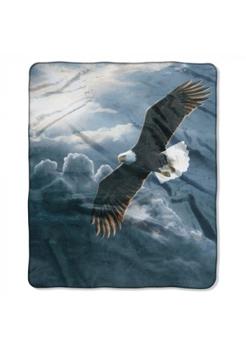 "Out of Storm Bald Eagle 50"" x 60"" Throw"