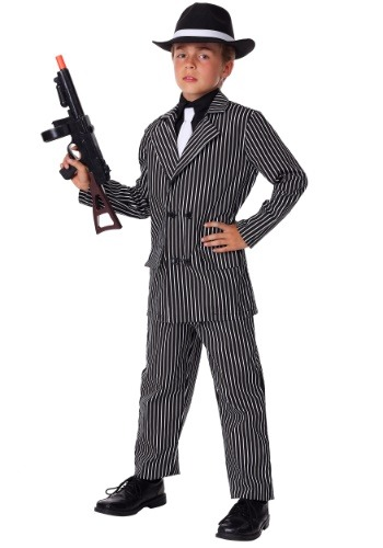 Deluxe Gangster Costume For Kids