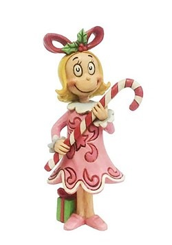 Cindy Lou with Candy Cane Figurine