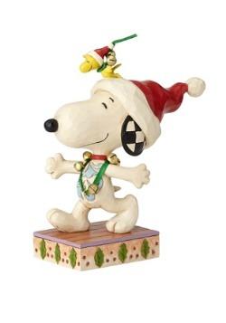 Snoopy with Jingle Bells Figurine
