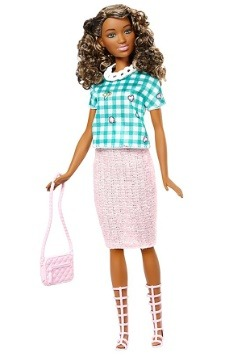 Barbie Fashionista Trendy Blue Dress