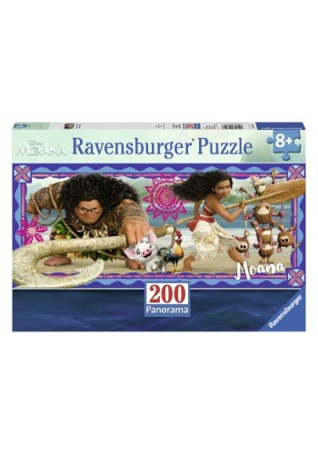 Moana's Adventure 200 Piece Ravensburger Panorama Puzzle
