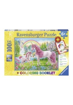 Magical Unicorns 100 Piece Ravensburger Puzzle and Coloring