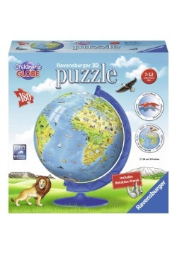 Ravensburger Children's World Globe 180 Piece 3D Puzzle