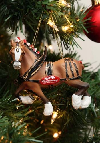 """4.75"""" Budweiser Clydesdale Horse Molded Ornament"""