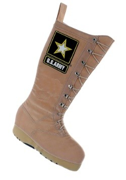 "19"" U.S. Army Combat Boot Christmas Stocking"
