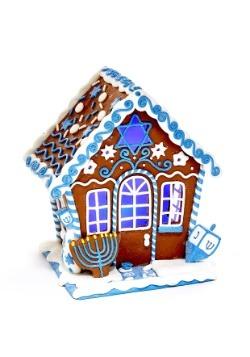 """7"""" Claydough Hanukkah Gingerbread LED House Table-piece"""