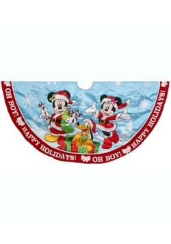 "48"" Mickey & Minnie Printed Satin Treeskirt"