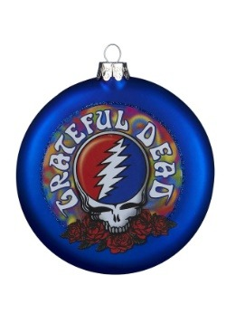 Glass Grateful Dead Disc Ornament