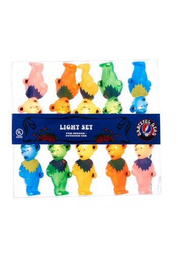 10 piece Grateful Dead Dancing Bears Light Set