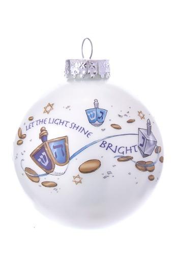 Hanukkah Glass Ball Ornament