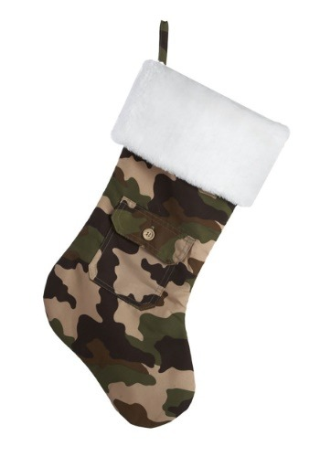 "18.5"" Camouflage Faux Fur Cuff Christmas Stocking"