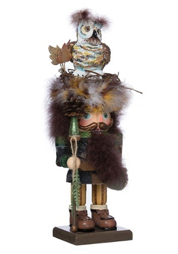 "16"" Hollywood Owl Hat Woodsman Nutcracker"