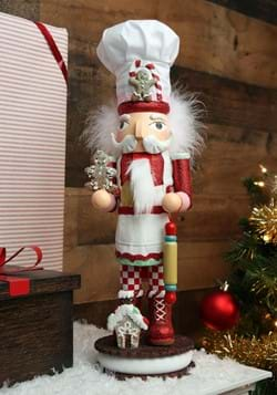 "15"" Holly Wood Gingerbread Chef Nutcracker"