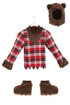 Scary Fierce Werewolf Boys Costume Alt 12
