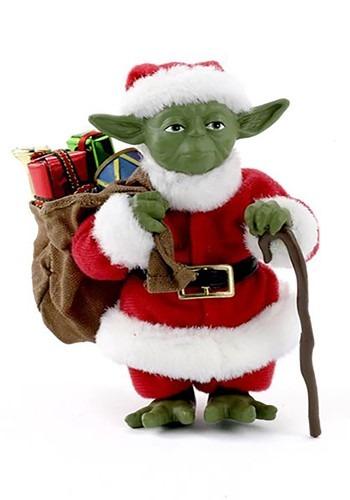 """5"""" Fabriche Santa Yoda Christmas Tablepiece Decor"""