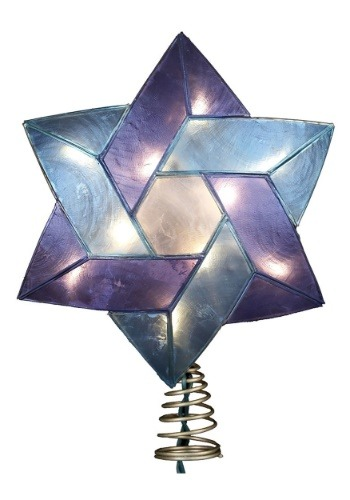 "8.5"" Star of David Hanukkah Treetopper"