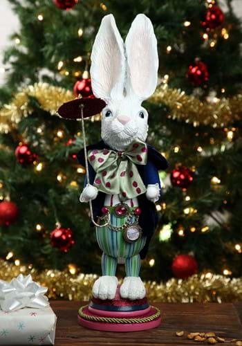 "18"" Hollywood White Rabbit Nutcracker"