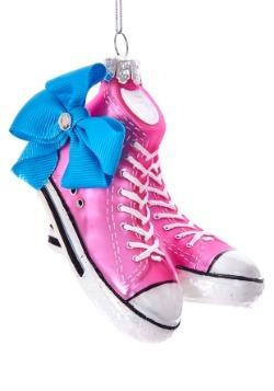 "4"" Glass Jojo Siwa Sneakers w/ Bow Ornament"