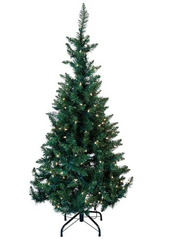 4.5' Pre-Lit LED Green Pine Tree