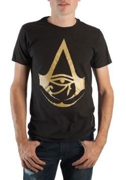 Assassins Creed Origins Foil Logo Black Mens Tee