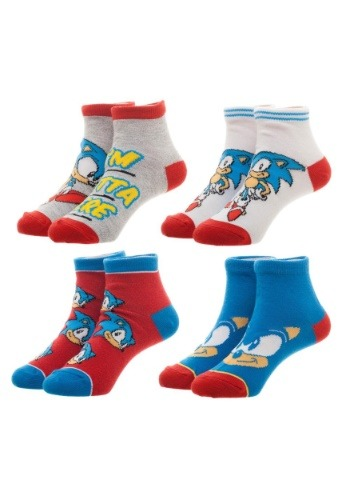Sega Sonic Youth 4 Pair Sock Pack
