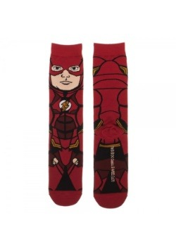 DC Comics Justice League Flash 360 Character Crew Socks