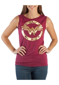 DC Comics Wonder Woman Logo Hi-Lo Tank