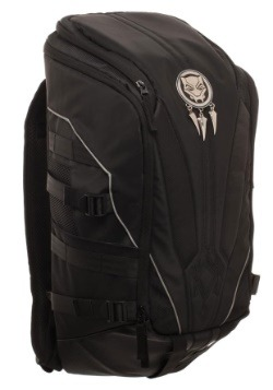 Black Panther Mixed Material Laptop Backpack2