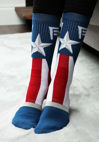 Marvel Captain America Suit Up Crew Socks
