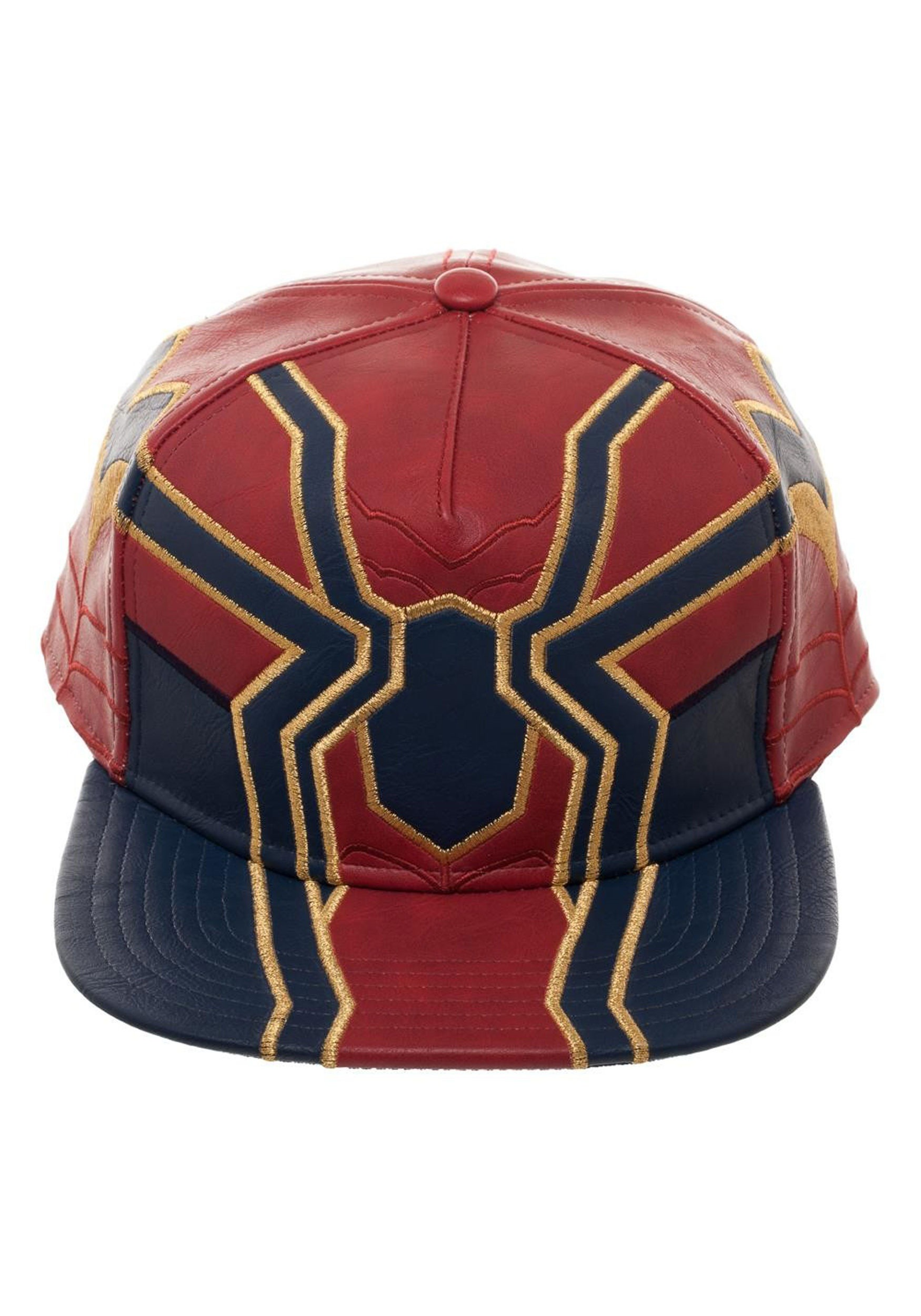f385b767715 Avengers Infinity War Iron Spider Suit Up PU Snapback Cap