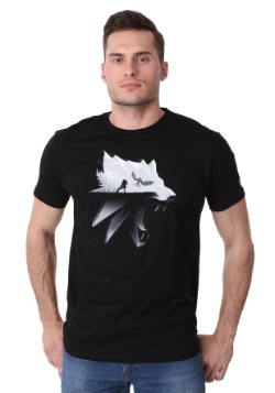Men's The Witcher Wolf Silhouette T-Shirt