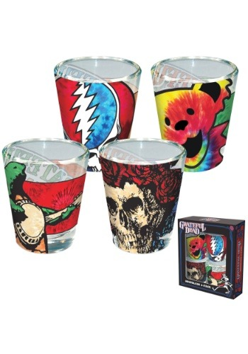 Grateful Dead Shot Glass 4 pack