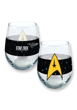 Stemless Star Trek 21oz  Wine Glass