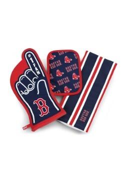 Boston Red Sox #1 Oven Mitt 3-Piece Set