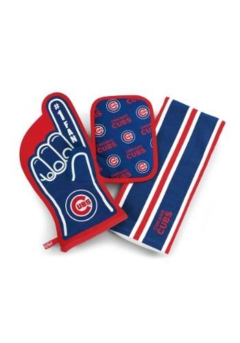 Chicago Cubs #1 Oven Mitt 3-Piece Set