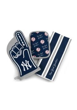 New York Yankees #1 Oven Mitt 3-Piece Set
