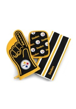 Pittsburgh Steelers #1 Oven Mitt 3-Piece Set