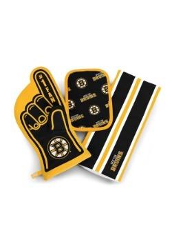 Boston Bruins #1 Oven Mitt 3-Piece Set