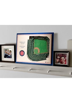 Chicago Cubs 5 Layer Stadiumviews 3D Wall Art Alt 3