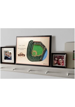 San Francisco Giants 5 Layer Stadiumviews 3D Wall  Alt 3