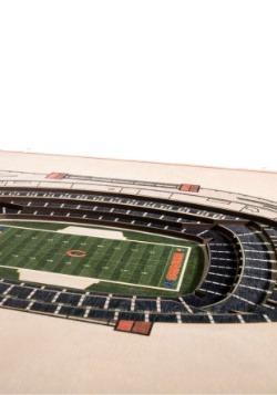 Chicago Bears 5 Layer Stadiumviews 3D Wall Art2