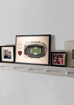 Chicago Bears 5 Layer Stadiumviews 3D Wall Art3