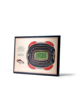 Denver Broncos 5 Layer Stadiumviews 3D Wall Art