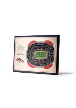Denver Broncos 5 Layer Stadiumviews 3D Wall Art