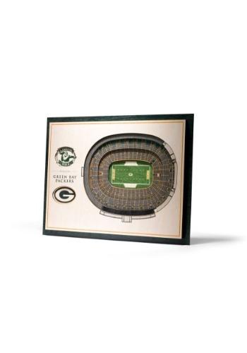 Green Bay Packers 5 Layer Stadiumviews 3D Wall Art