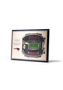 New England Patriots 5 Layer Stadiumviews 3D Wall Art